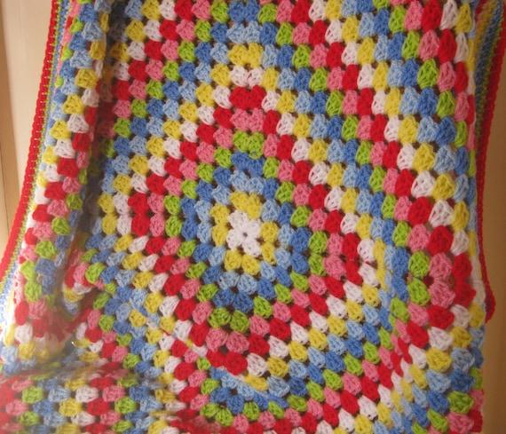 Crochet Granny Square Blanket Afghan Cath Kidston Colours