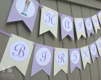Rapunzel Princess Party Custom Birthday Banner - Let Down Your Hair Collection