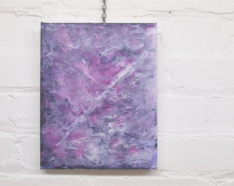 Ascending abstract painting, original mixed media painting, 8th chakra crown soul star, magenta, mauve, Canadian artist, home decor