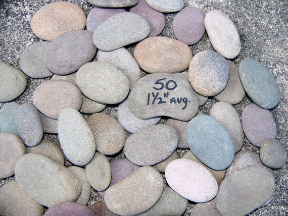 50 small flat river rocks rocks gnome writing by rocksisters for Small river pebbles