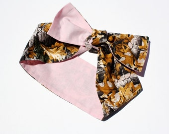 SALE!!! Vintage Inspired Head Scarf, Pale Pink, Camo, Country