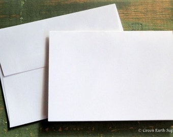 """25 A7 Folded Cards & Envelopes: Recycled 5 1/8 x 7"""" (130x178mm) or 5x7"""" folded cards and A7 envelopes, white, bright white, natural or ivory"""