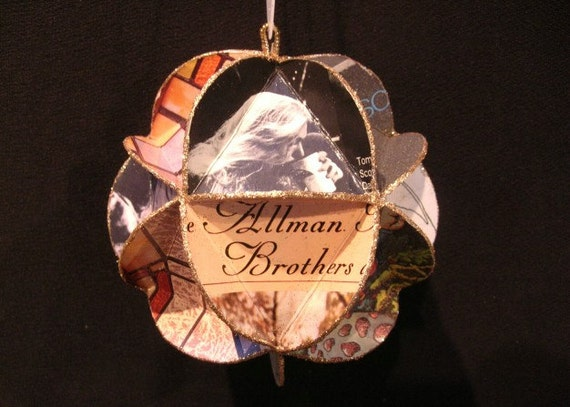 Allman Brothers Album Cover Ornament Made Of Record Jackets