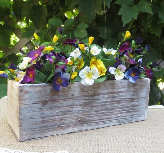 Items Similar To Wood Box Vase Planter Box Rustic Wedding