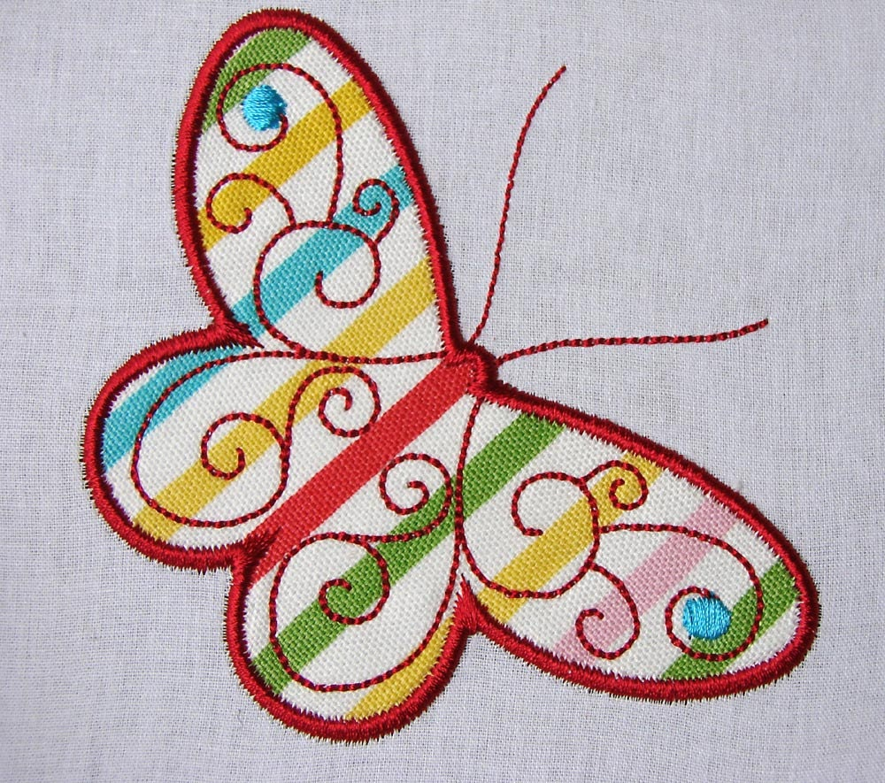 Butterfly Applique Machine Embroidery Files 3x3 4x4 And 5x7