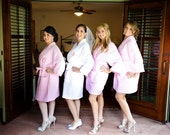 4 Wedding Party Bridesmaids Spa Robes Monogrammed Front embroidery is included
