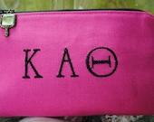 Kappa Alpha Theta cosmetic bag makeup bag sorority gift Big Little gift Greek life