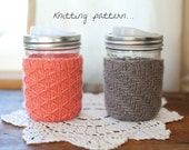 Mason Jar Mug Cozy Knitting Pattern... His & Hers... design by Madeline Bea