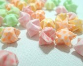 50 Rainbow Vellum Glow in Dark Origami Lucky Stars