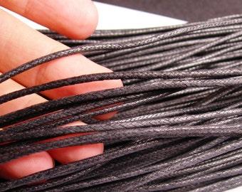 Wax cotton cord -2mm -  black - 90 meters - 295 foot - 2mm wax cord - B2M