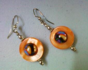 Orange Shell Earrings (0766)