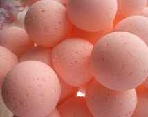 14 bath bombs in Orange Dreamsicle fragrance, gift bag bath fizzies, great for dry skin, shea, cocoa, 7 ultra rich oils