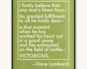 16x20 Vince Lombardi Field of Battle Victorious Art Print