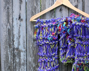Ribbon Candy Scarf - Electric Purple