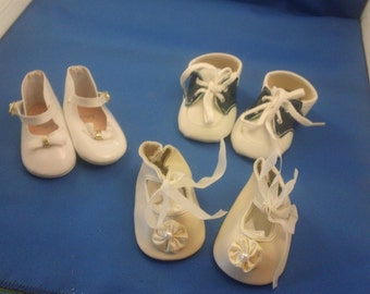 Doll Shoes, three pair, assorted