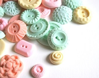 50 Peppermint Candy Buttons... a handmade candy / as seen in Martha Stewart Weddings and Martha Stewart Living