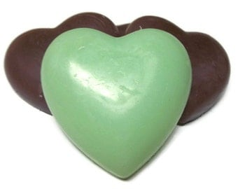 Heart Glycerin Soap, Bar & Hand Soap, Travel Guest Soap, Wedding Party Favor Soap, Glycerin Heart Soap, Travel Soap Blocks, Free Shipping