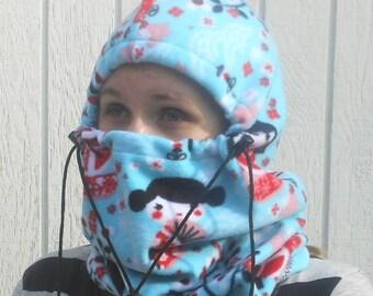 Cherry Blossom Girl Print Adult Fleece Balaclava Hat Winter Gift