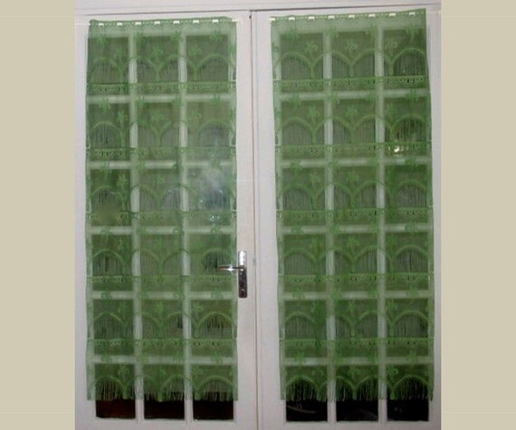 lace green curtains lace french door curtains green swirl