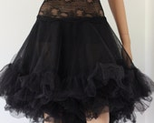 Tutu Lace Top Skirt Lingerie Fairy Tulle Wedding Bridal Rockabilly CHRISST