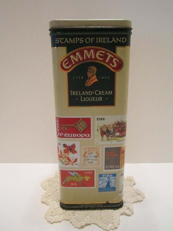 Emmets Ireland's Cream Liqueur Stamps of Ireland Collectible Tin