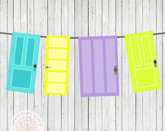 INSTANT DOWNLOAD Printable Door Banner - Monsters Inc University Inspired  - Petite Party Studio