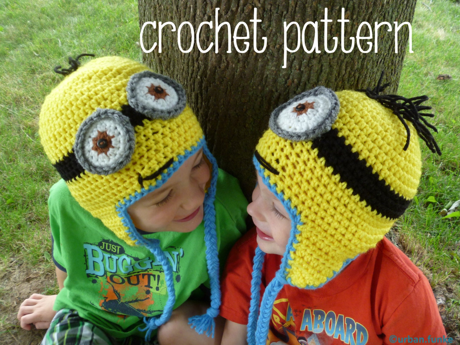 Pattern only minion hat crochet from urbanfunke on etsy studio pattern only minion hat crochet bankloansurffo Image collections