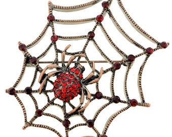 Ruby Red Spider Pin Brooch And Pendant 1002512