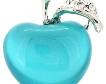 Blue Teacher's Apple Pin 1001133