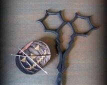 Web Embroidery Scissors and Spooky Pumpkin Needle Minder by cheswickcompany