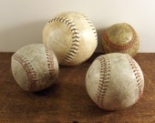 Vintage Baseballs Softball Collection of Four ~ epsteam vestiesteam thebestvintage - ConvergedCommodities