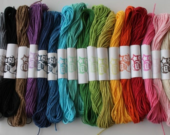 Free shipping-Twine- Solid Colors 15 yards per color. 5 colors of your choice