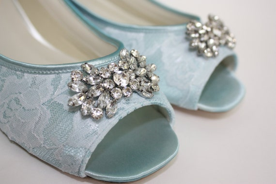 lace flats wedding shoes something blue choose from over 100 colors