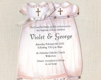 10 Boy and Girl Baptism Christening Gowns - Handcut and Personalized