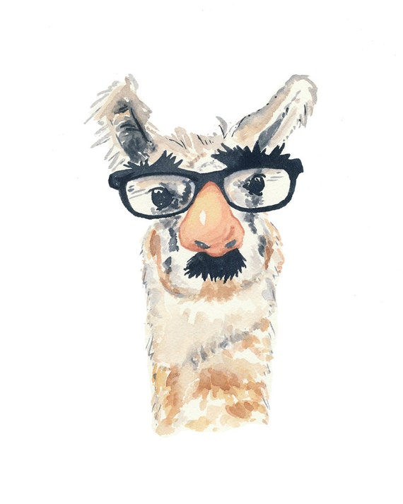 Funny Llama With Glasses