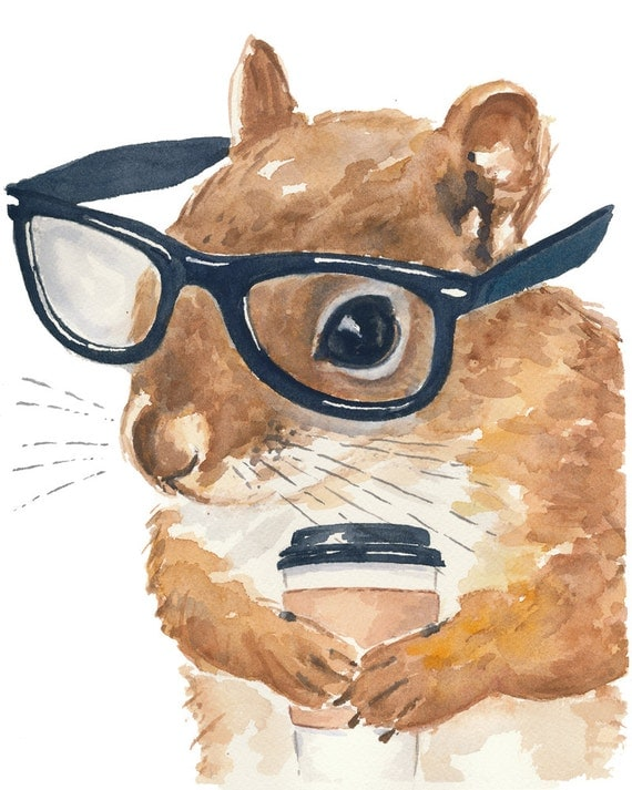 Squirrels with glasses - photo#2