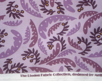 SALE : Swirled leaves on purple Linden Melissa Saylor P&B textiles fabric FQ or two