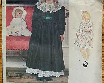 RARE Toddler's, Girls, Children's, Special Occasion Dress, Holiday, Party, Flower Girl, Vogue 1050 Sewing Pattern UNCUT Sizes 2, 3, 4