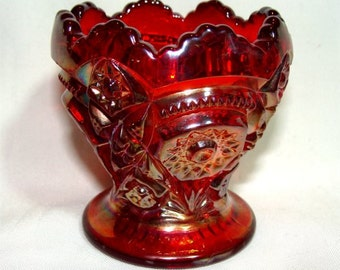 Ruby Amberina IMPERIAL Carnival Glass TOOTHPICK Holder