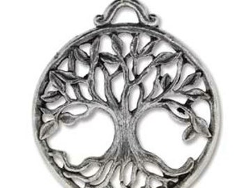 Tree of Life Casting- Antique Silver 25 x 30  mm. Approx. 1 1/4 inch x 1 inch Antique Silver Finish You Get 2-Darling to add to your Jewelry