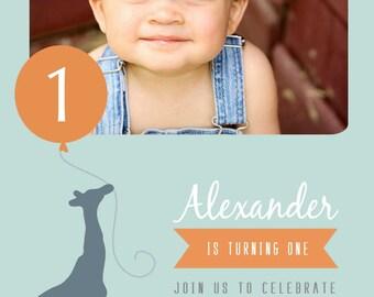 Giraffe Birthday Invitation BIRTHDAY GIRAFFE INVITATION