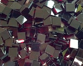 """100 1/2"""" Ruby Red Stained Glass Mosaic Tiles"""