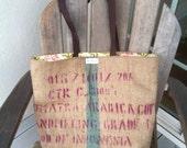 The Flamingo aka Paradise Bird Bag. Large-ish made from coffee bean sacks.