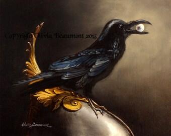 """Raven - """"Poet's Pet""""  - ACEO LE"""