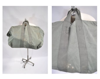 vintage bag aviator kit bag duffle bag duffel bag canvas flight bag LARGE vintage duffle bag duffel bag