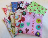 Set of 10 Reusable Sandwich or Snack Bags YOU CHOOSE from over 100 choices