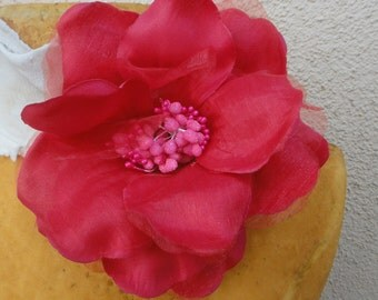 Cute   flower  with clip  back 1 piece listing  5 inch wide