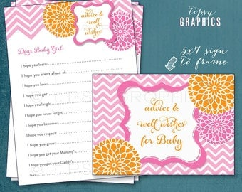 Spa Pom Pom Chevron Mum Baby Wishes  By Tipsy Graphics. Madlib. AdLib. Baby Wishes. Baby Statistics. Printable Cards, any Colors.