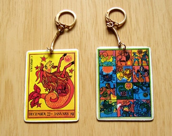 Capricorn Zodiac Key Chain from the 1970's