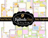 Baby Scrapbook - Printable Baby Book - Girl - Pages - Scrapbook Pages Premade